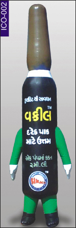 Bottle Shape Inflatable Costume, click here to see large picture.