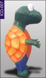 Standing Tortoise Inflatable Costume, click here to see large picture.