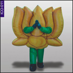 Lotus Inflatable Costume, click here to see large picture.