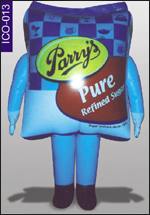 Sugar Shape Inflatable Costume, click here to see large picture.