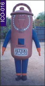 Asthma Inflatable Costume, click here to see large picture.