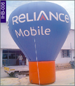 Reliance Mobile Conical Inflatable, click here to see large picture.